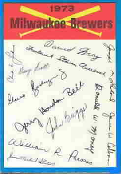 1973 O-Pee Chee Checklists Baseball