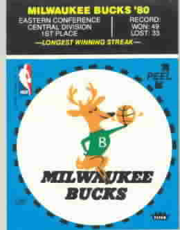 1980-81 Fleer Basketball Team Stickers